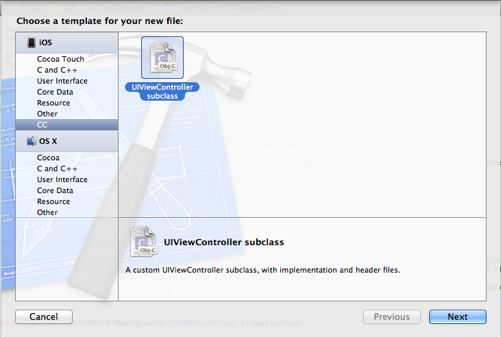 Fenêtre de création de fichiers
